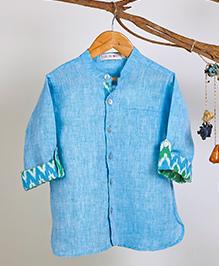 Liz Jacob Sky Linen Shirt - Sky Blue