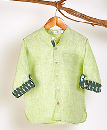 Liz Jacob Stylish Print Shirt - Lemon Green