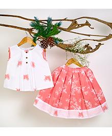 Liz Jacob Pinecone Pop Skirt Top - White & Pink