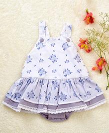Liz Jacob Bouquet Of Flowers Baby Dress - White