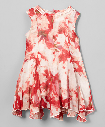 Yo Baby Tye & Dye Fit & Flare Dress - Red