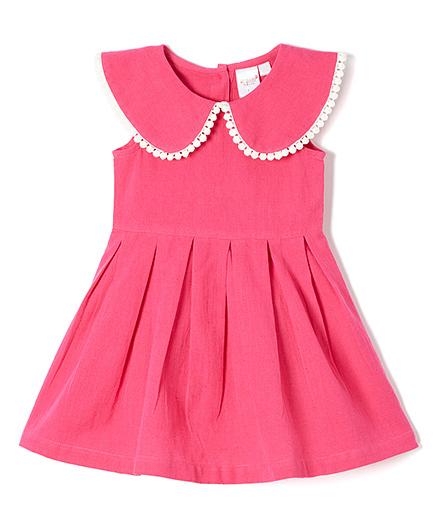 Yo Baby Elegant Pleated Dress - Pink