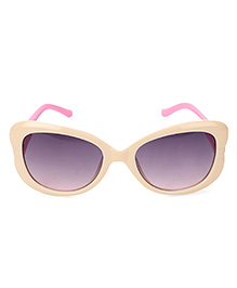 Kids Sunglasses With Butterfly Appliques - Beige
