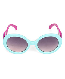 Kids Round Sunglasses With Clouds Print - Blue