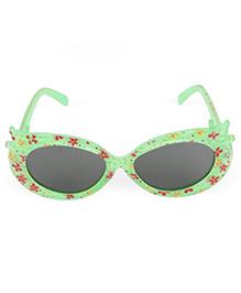Kids Cat Eye Sunglasses Floral Print - Green