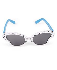 Kids Cateye Sunglasses Stars Print - White Blue