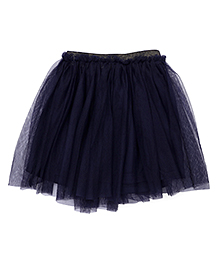 UCB Ruffled Net Skirt - Navy