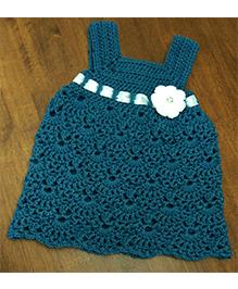 Magic Needles Crochet Ribbon Frock Sleeveless - Storm Blue