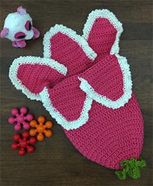 Magic Needles Flower Photo Prop Sleep Sack Cocoon - Sport Pink