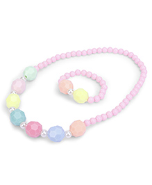Anaira Radiant Necklace And Bracelet Set - Multicolor