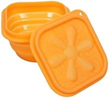 Fab N Funky Folding Lunch Box - Orange