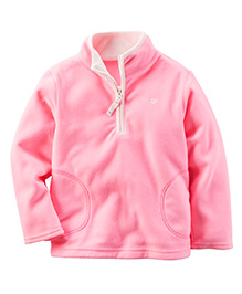 Carter's Full Sleeves Sweat Jacket - Pink