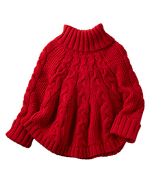 Carter's Poncho Turtleneck Sweater - Red