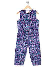 Budding Bees Infant Girls Printed Jumpsuit - Purple