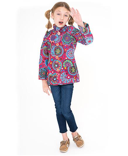 Yo Baby Floral Medallion Reversible Jacket - Pink