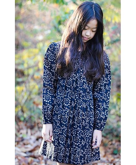 Yo Baby Floral A-Line Dress - Blue
