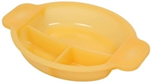 Fab N Funky 3 Section Plate - Yellow