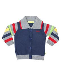 Buzzy Full Sleeves Cardigan - Multicolor