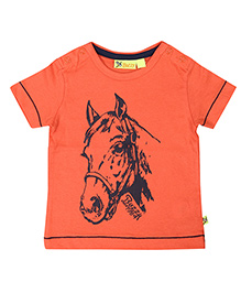 Buzzy Half Sleeves Printed T-Shirt - Orange