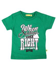Buzzy Short Sleeves Printed T-Shirt - Green