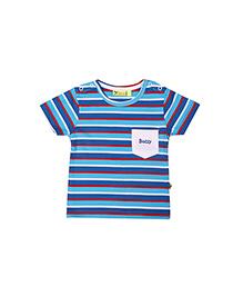 Buzzy Half Sleeves Stripes T-Shirt - Blue