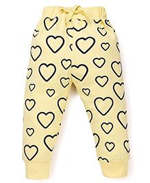 Doreme Full Length Printed Track Pants - Yellow