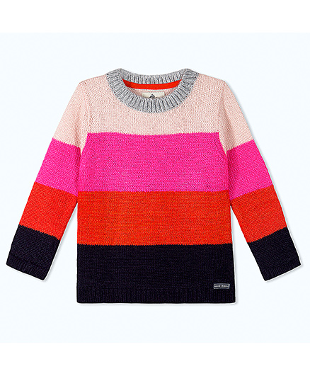 Cherry Crumble California Soft Multi - Hued Color Block Sweater For Boys & Girls - Multicolor