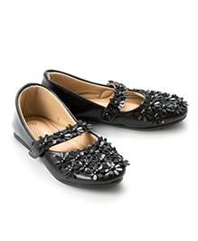 Pikaboo Flowery Feet Mary Jane Shoes - Black