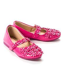 Pikaboo Flowery Feet Mary Jane Shoes - Fuchsia