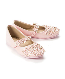 Pikaboo Flowery Feet Mary Jane Shoes - Baby Pink