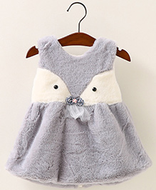 Aww Hunnie Cut Sleeves Winter Vest - Grey