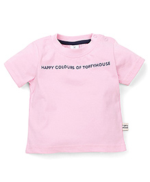 ToffyHouse Half Sleeves T-Shirt - Light Pink