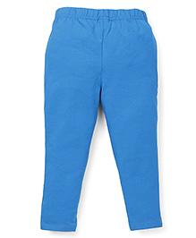 ToffyHouse Full Length Plain Leggings - Turquoise Blue