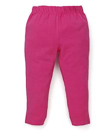 ToffyHouse Full Length Plain Leggings - Dark Pink