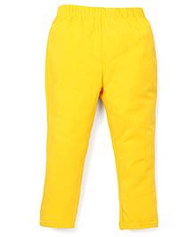 ToffyHouse Full Length Plain Leggings - Gold Yellow