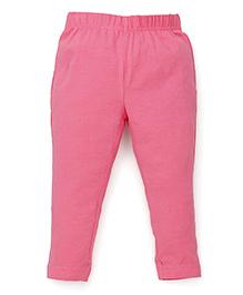 ToffyHouse Full Length Plain Leggings - Peach