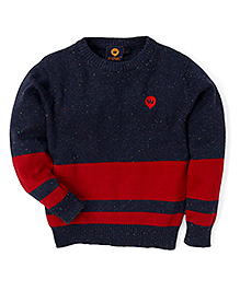 Vitamins Full Sleeves Pullover Sweater - Blue Red