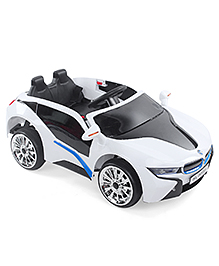Battery Operated Ride On Car - White & Black