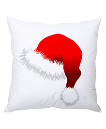 StyBuzz Christmas Cushion Cover Santa Hat Print - Red White