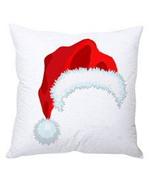 StyBuzz Christmas Cushion Cover Santa Hat Print - Red White - 1239794