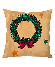 StyBuzz Christmas Art Cushion Cover - Beige Red Green