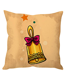 StyBuzz Cushion Cover Golden Bell Print - Brown