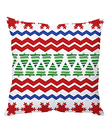 Stybuzz Christmas Cushion Cover - Red Blue Green White