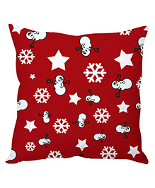 Stybuzz Christmas Cushion Cover - Red White
