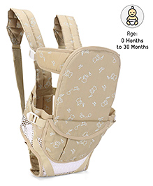 Fab N Funky Soft Baby Carrier 6 In 1 Cream - Upto 12 Kg
