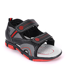 Cute Walk by Babyhug Sandals With Velcro - Black