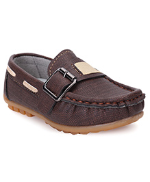 Cute Walk by Babyhug Loafer Shoes - Coffee Brown