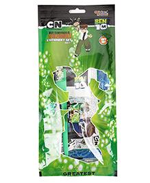 Sticker Bazaar Ben 10 Stationery Set Green - 7 Pieces