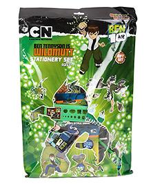 Sticker Bazaar Ben 10 Stationery Set Pack Of 12 - Green