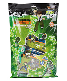 Sticker Bazaar Ben 10 Stationery Set Pack Of 16 - Green